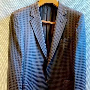 GUCCI Wool Grey/Black Check Sport Coat